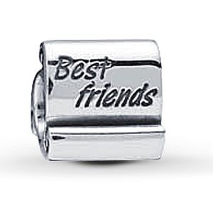"Authentic Pandora""Best Friends"" Retired Charm"